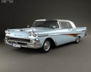3D model of Ford Fairlane 500 Sunliner 1958