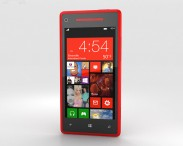 3D model of HTC Windows Phone 8X Flame Red
