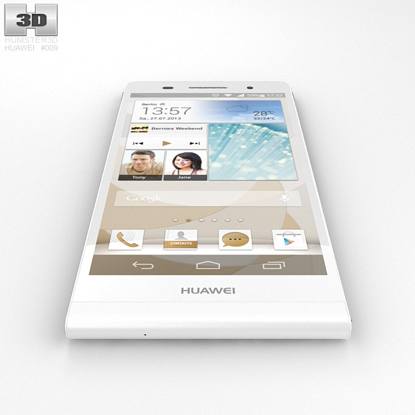 3D model of Huawei Ascend P6 WhiteHuawei Ascend P6 White