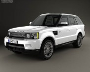 3D model of Land Rover Range Rover Sport 2009