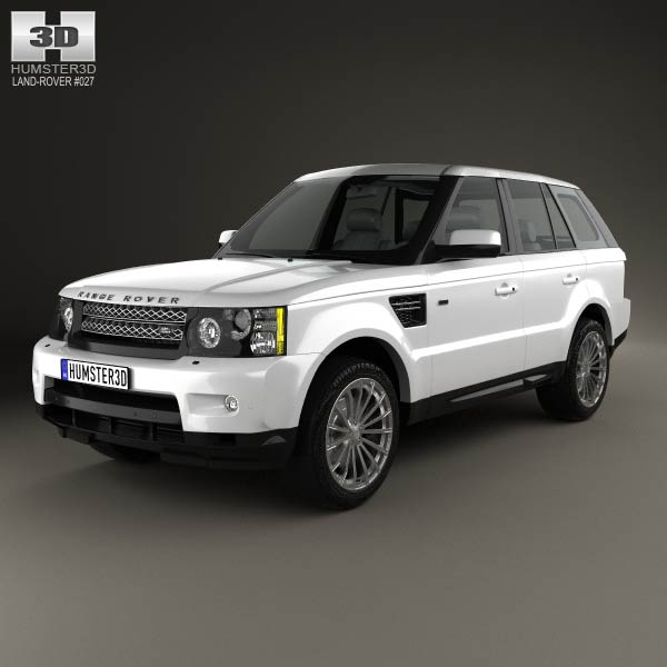 land rover range rover sport 2009 3d model humster3d. Black Bedroom Furniture Sets. Home Design Ideas
