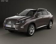 3D model of Lexus RX 2012