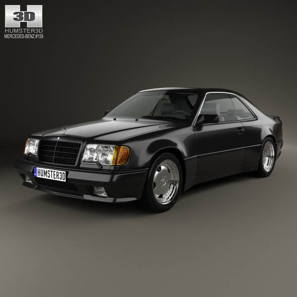 Mercedes benz e class amg widebody coupe 1988 3d model for Mercedes benz e class models