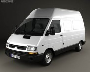 3D model of Renault Trafic Panel Van HR 1995