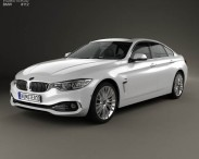 3D model of BMW 4 Series (F36) Gran Coupe Luxury Line 2013