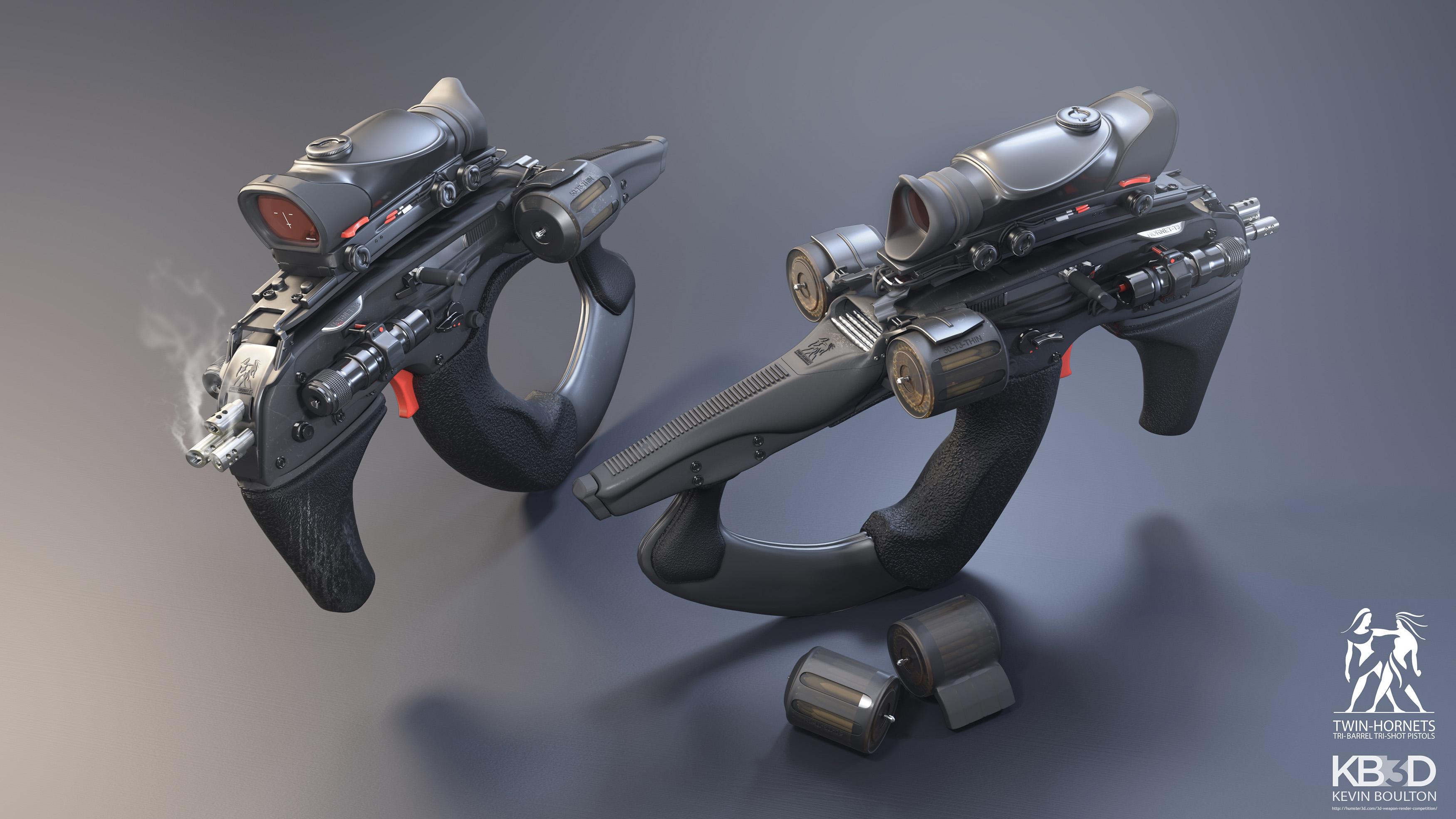 Twin Tri Shot Hornet Pistols