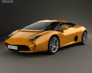 3D model of Lamborghini 5-95 Zagato 2014
