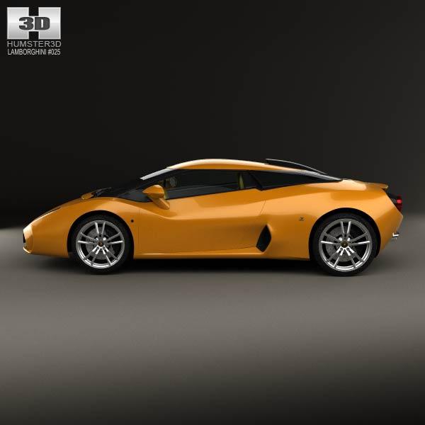 Lamborghini 5 95 Zagato 2014 3d Model Humster3d