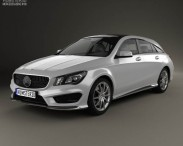 3D model of Mercedes-Benz CLA-Class (C117) Shooting Brake 2014