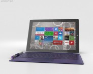 3D model of Microsoft Surface Pro 3 Purple Cover