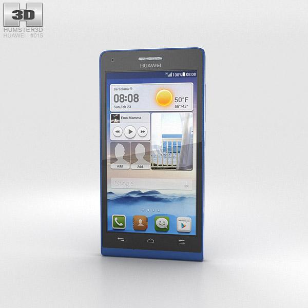 huawei ascend g6 blue 3d model humster3d