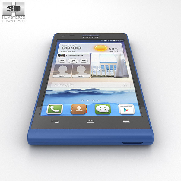 huawei ascend g6 blue 3d model humster3d