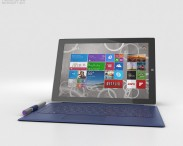 3D model of Microsoft Surface Pro 3 Blue Cover