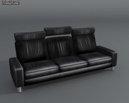 3D model of Space Three-Seat Sofa High-Back