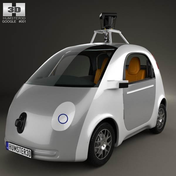 Google Self Driving Car 2014 3d Model Humster3d