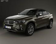 3D model of BMW X6 (F16) 2014