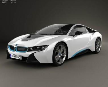 3D model of BMW i8 2014