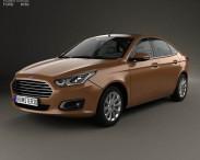 3D model of Ford Escort 2014