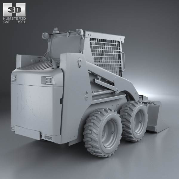 3d model of caterpillar 226b skid steer loader 2014