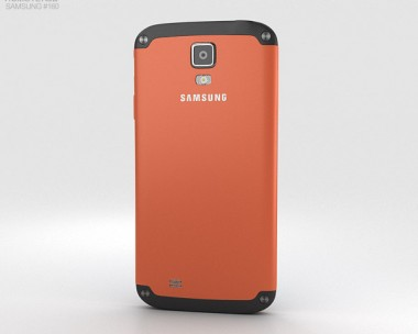 3D model of Samsung Galaxy S4 Active Orange Flare
