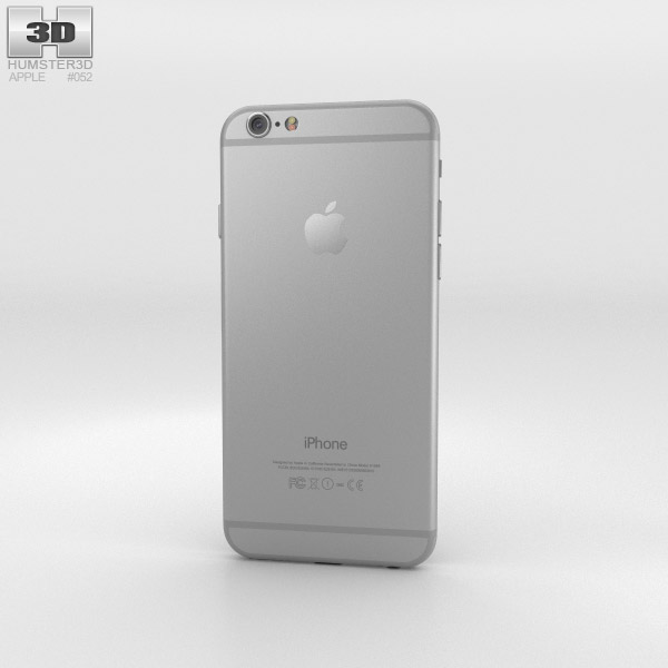 Apple iPhone 6 Silver 3D model - Humster3D