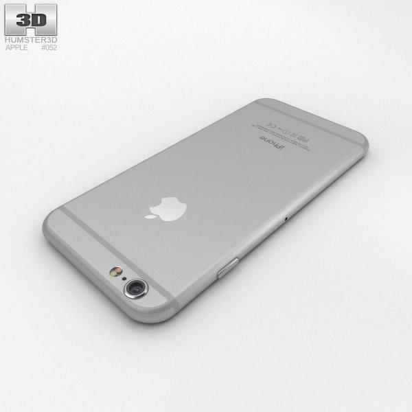 apple iphone 6 silver 3d model humster3d. Black Bedroom Furniture Sets. Home Design Ideas