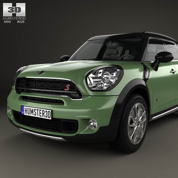 mini cooper countryman sd all4 2014 3d model humster3d. Black Bedroom Furniture Sets. Home Design Ideas