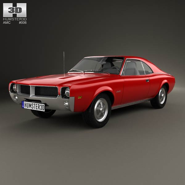 Amc Javelin 1968 3d Model Humster3d