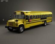 3D model of GMC B-Series School Bus 2000