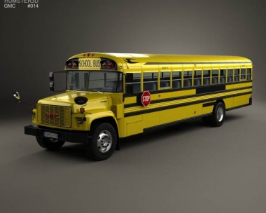 3D model of GMC B-Series School Bus 2000