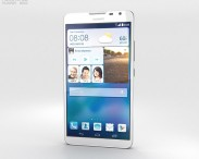 3D model of Huawei Ascend Mate 2 4G Pure White