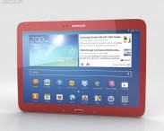 3D model of Samsung Galaxy Tab 3 10.1-inch Garnet Red