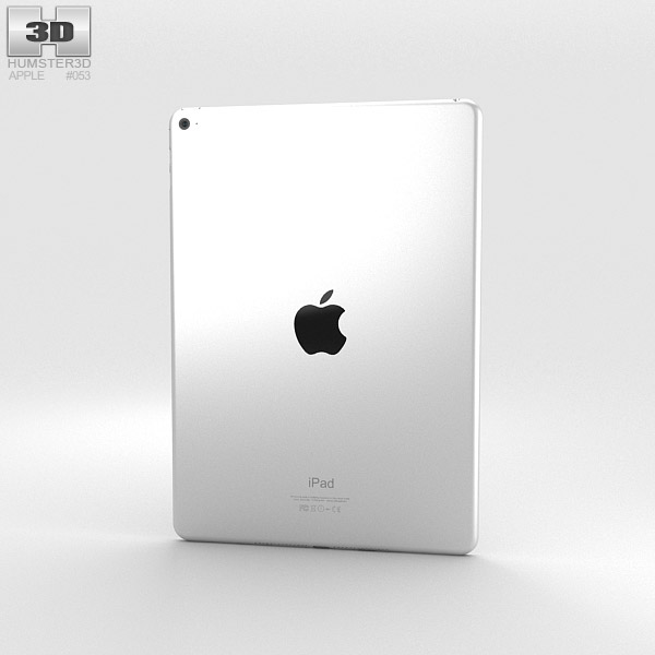 Apple iPad Air 2 Silver 3D model - Humster3D