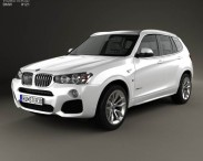 3D model of BMW X3 M Sport Package (F25) 2014