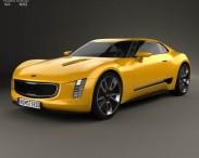 3D model of Kia GT4 Stinger 2014