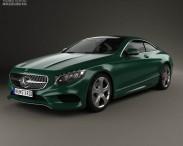3D model of Mercedes-Benz S-Class (C217) coupe 2014