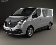 3D model of Renault Trafic Passenger Van 2014