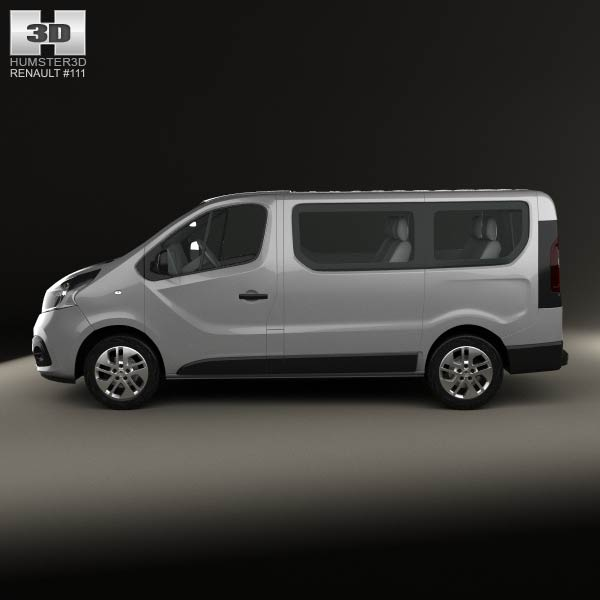 renault trafic passenger van 2014 3d model humster3d. Black Bedroom Furniture Sets. Home Design Ideas