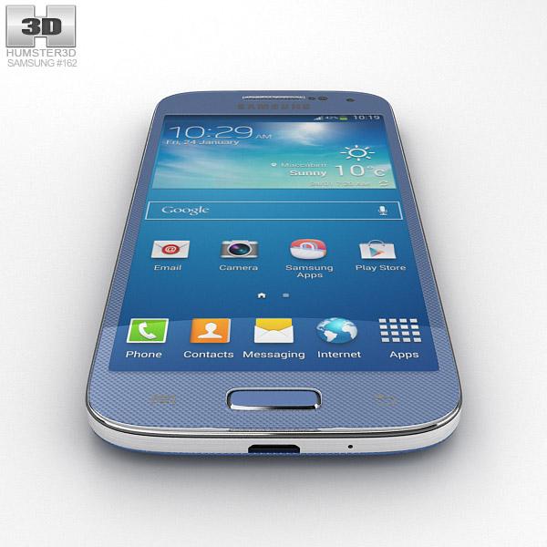 3D model of Samsung Galaxy S4 Mini BlueSamsung Galaxy S4 Mini Blue