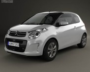 3D model of Citroen C1 3-door 2014