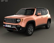 3D model of Jeep Renegade Trailhawk 2015