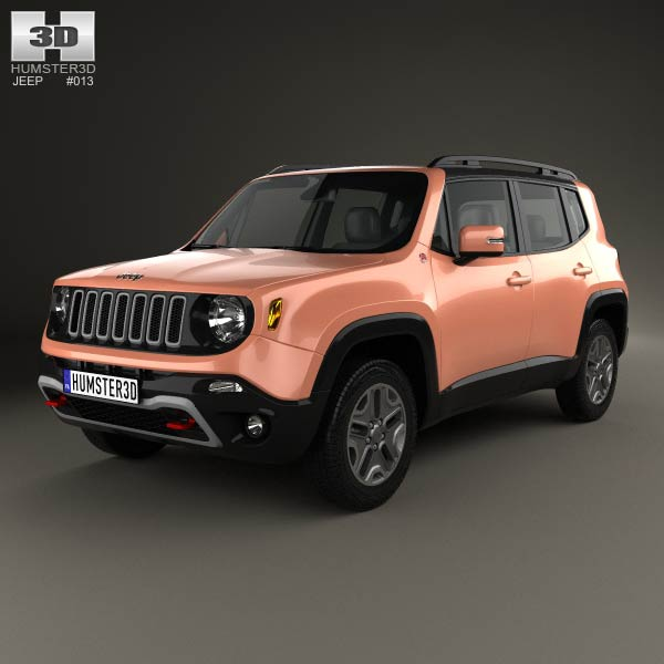 jeep renegade trailhawk 2015 3d model humster3d. Black Bedroom Furniture Sets. Home Design Ideas