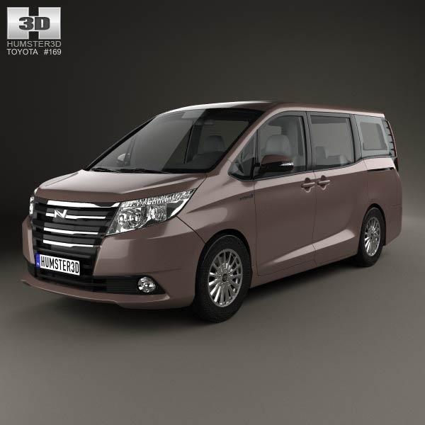 3D model of Toyota Noah G 2014