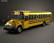 3D model of Blue Bird Vision School Bus 2014