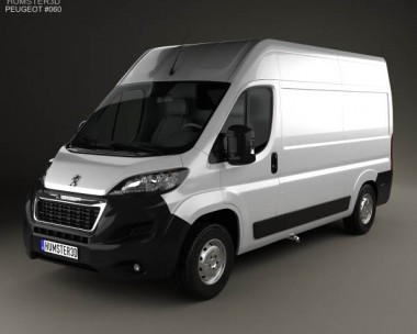 3D model of Peugeot Boxer L2H2 2014