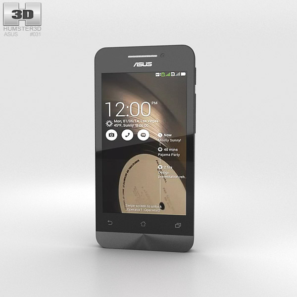 3D model of Asus Zenfone 4 Charcoal Black