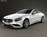 3D model of Mercedes-Benz S-Class 63 AMG (C217) coupe 2014