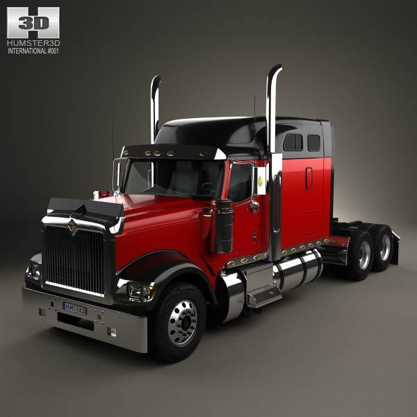 3D model of International 9900i Tractor Truck 2004