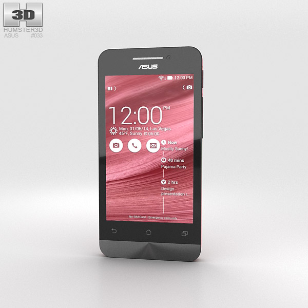 3D model of Asus Zenfone 4 Cherry Red