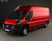 3D model of Dodge Ram Pro Master Cargo Van L3H2 2013